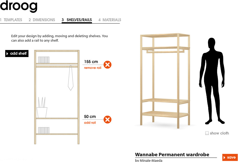 Wouter walmink interaction designer online portfolio for Online furniture design tool